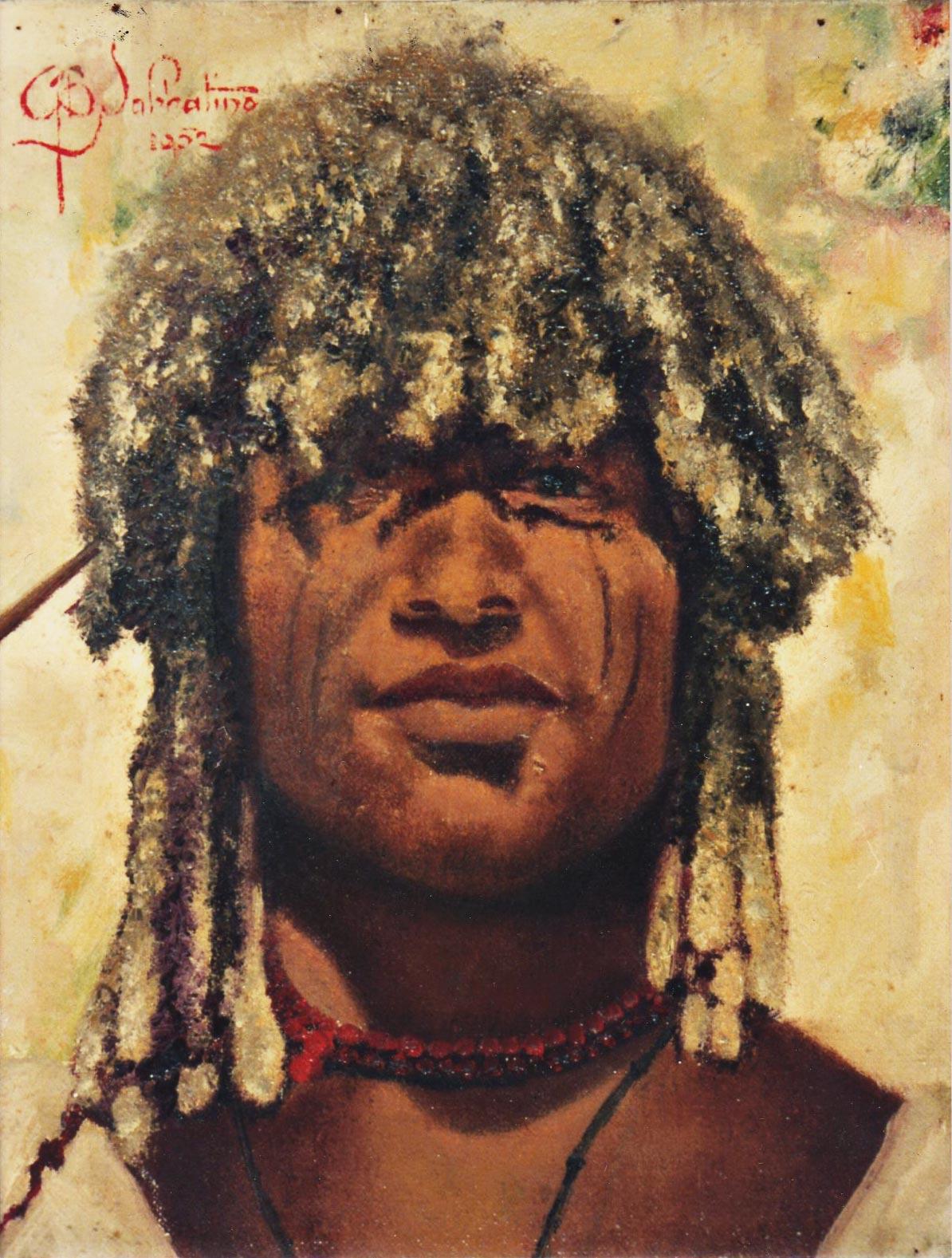 beni hamar hamer ritratto quadri africani olio su tela Sabbatino
