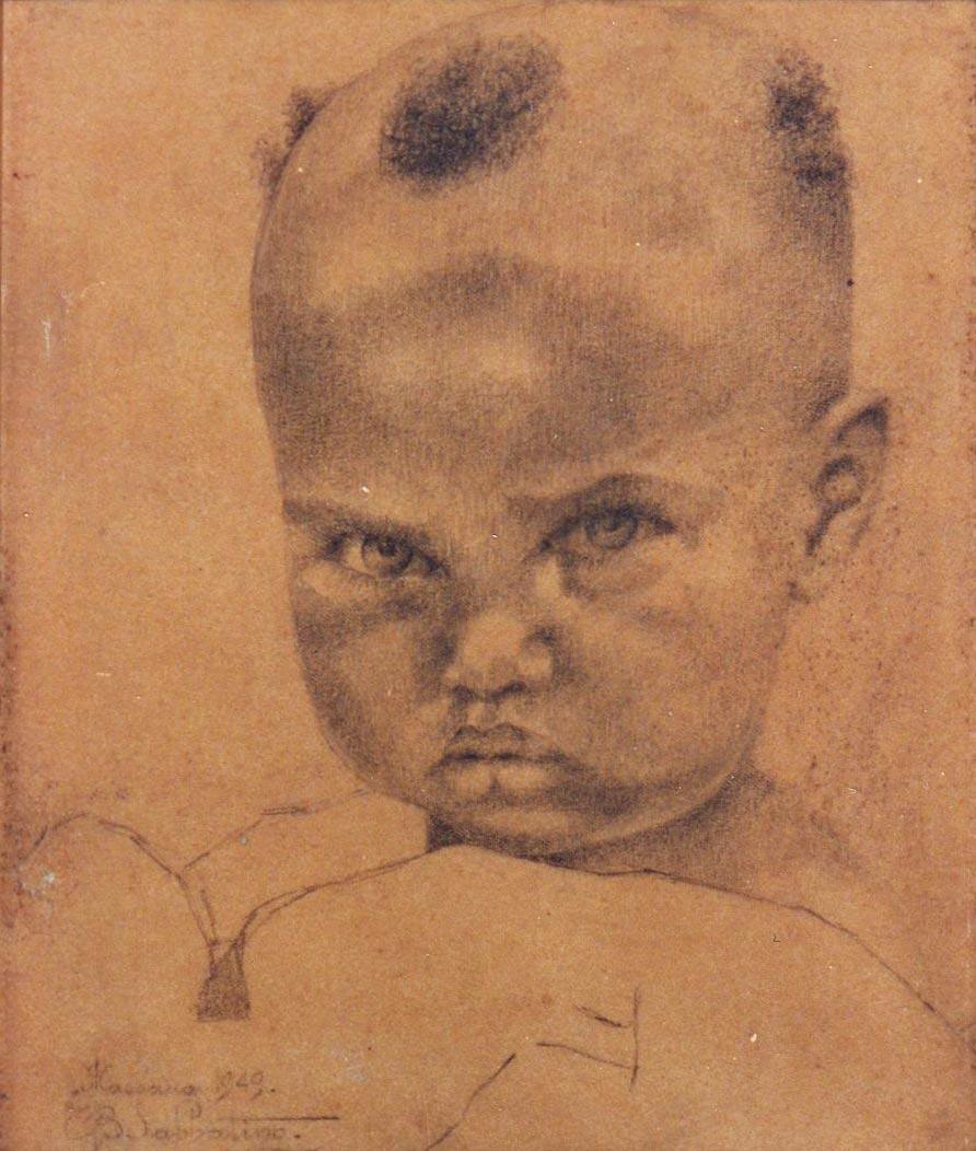 quadri africani ritratto bambino di massawa Sabbatino