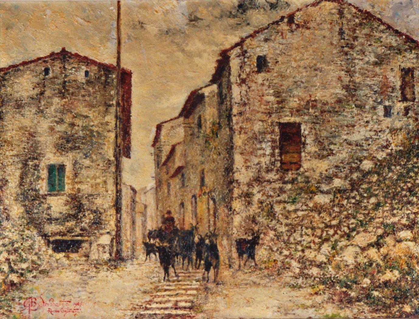 quadri paesaggi Rocca Canterano abruzzo Sabbatino