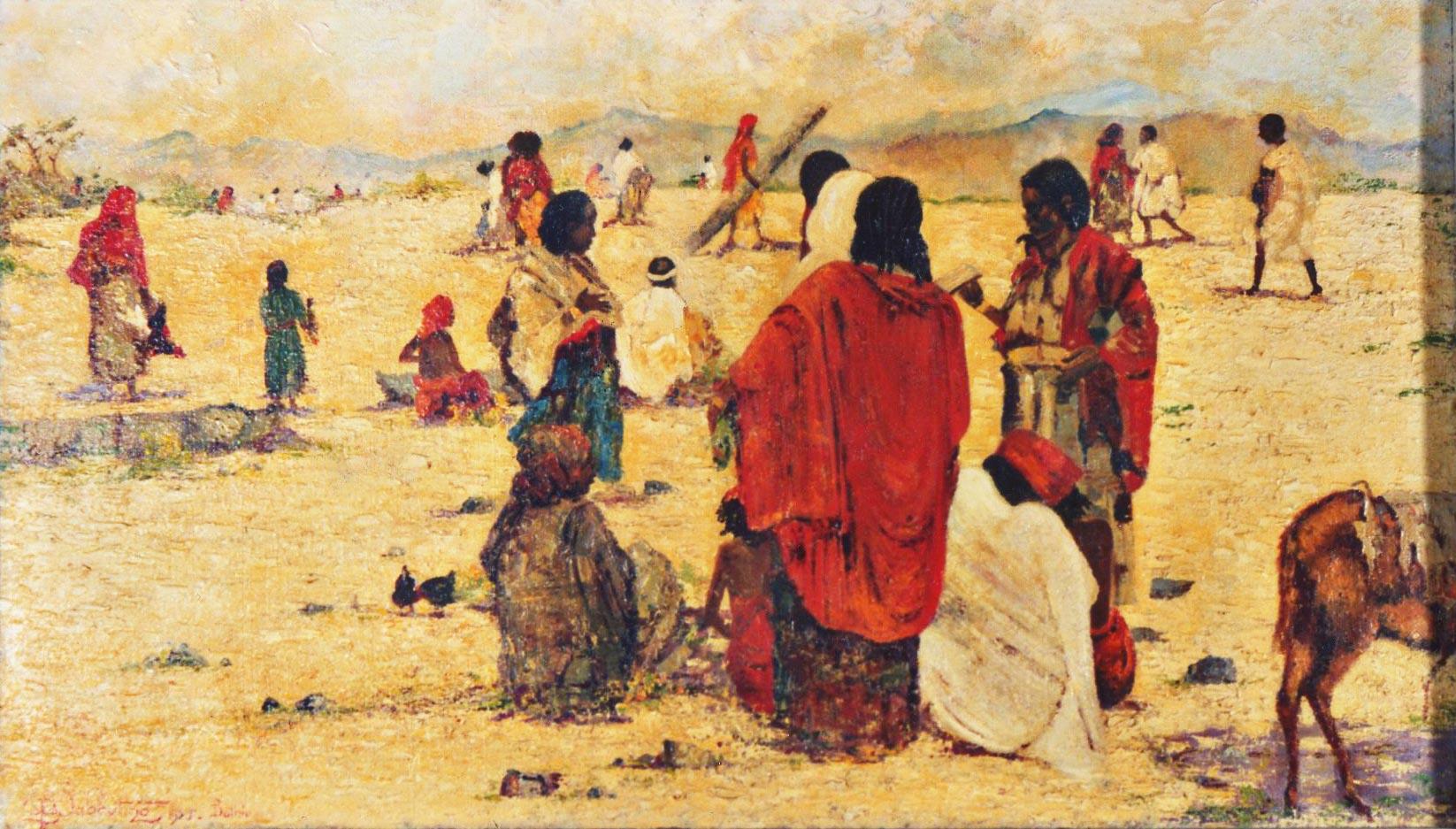 quadri africani mercato bati etiopia africa faesite Sabbatino