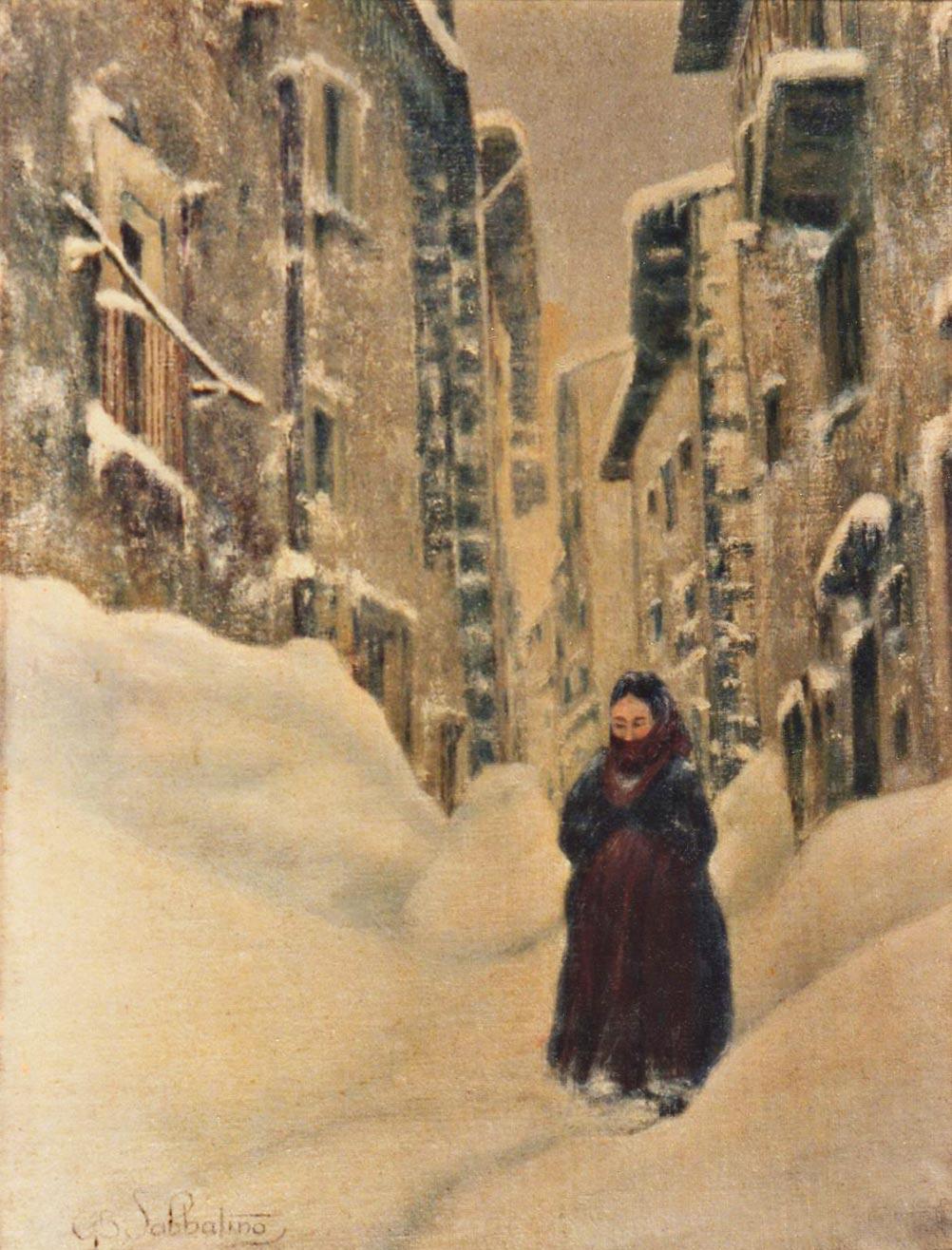 quadri paesaggi Scanno abruzzo faesite Sabbatino
