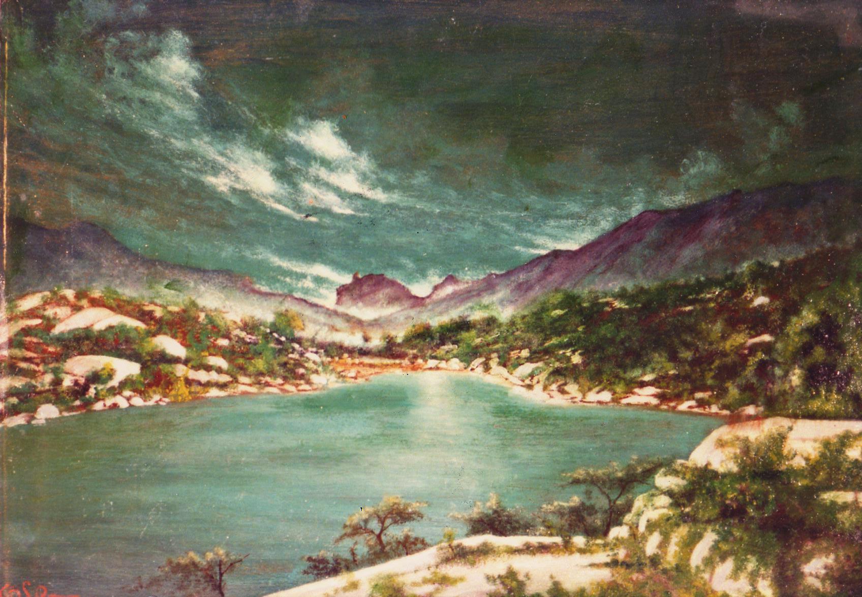 quadri africani paesaggio lago keren faesite Sabbatino