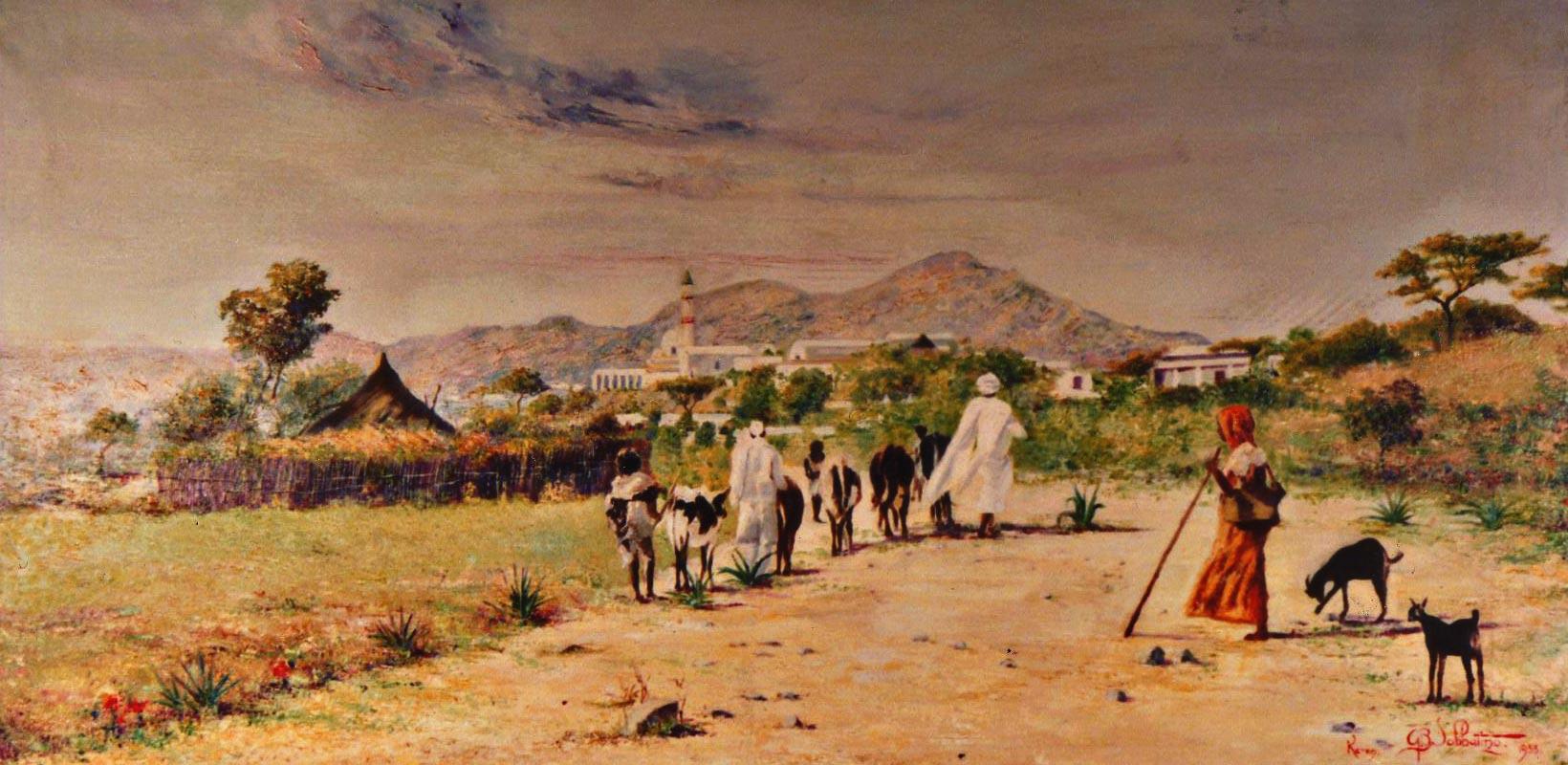 quadri africani pascolo Keren eritrea africa Sabbatino