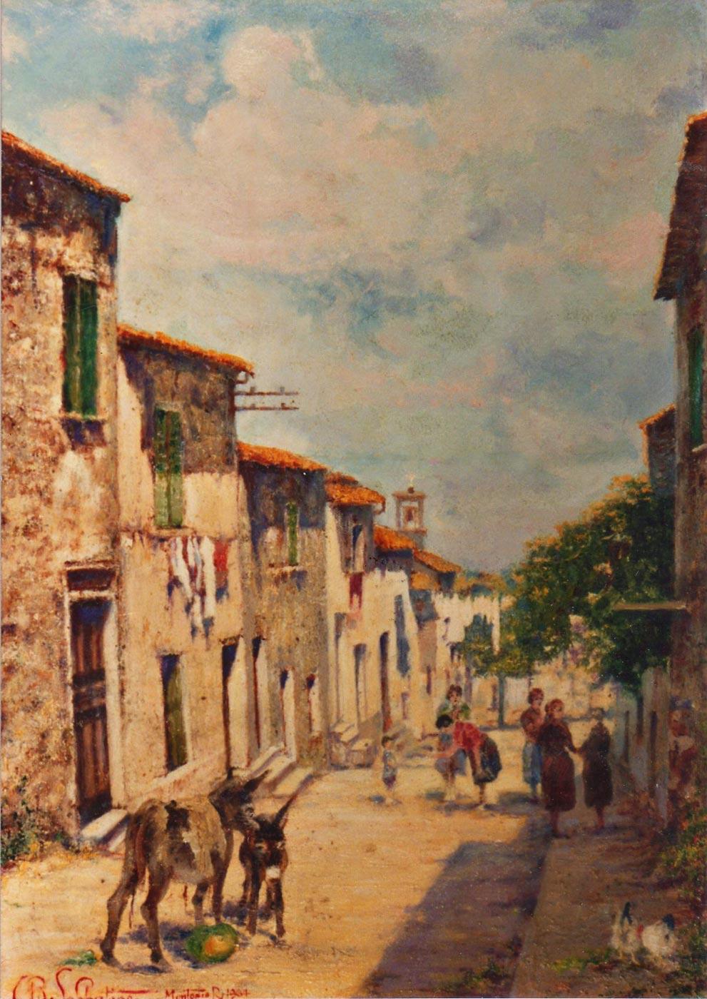 quadri paesaggi montorio romano olio Sabbatino