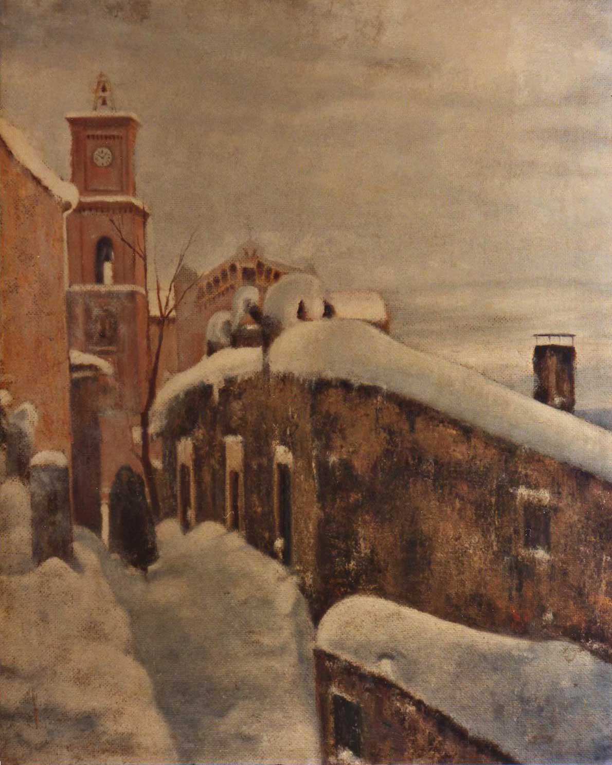 quadri scanno paesaggio inverno neve Sabbatino