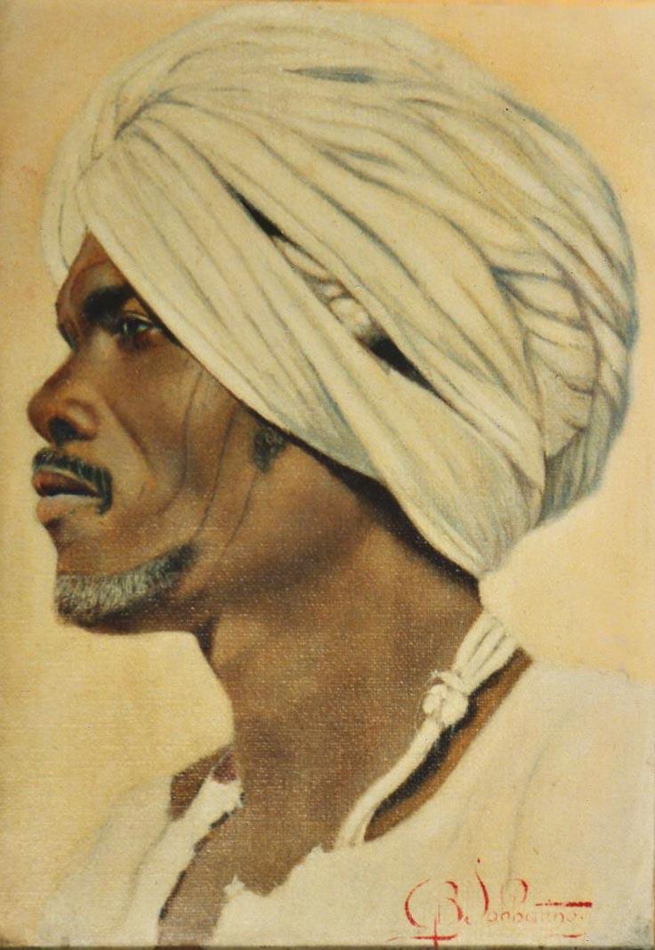 quadri africani ritratto olio su tela Sabbatino