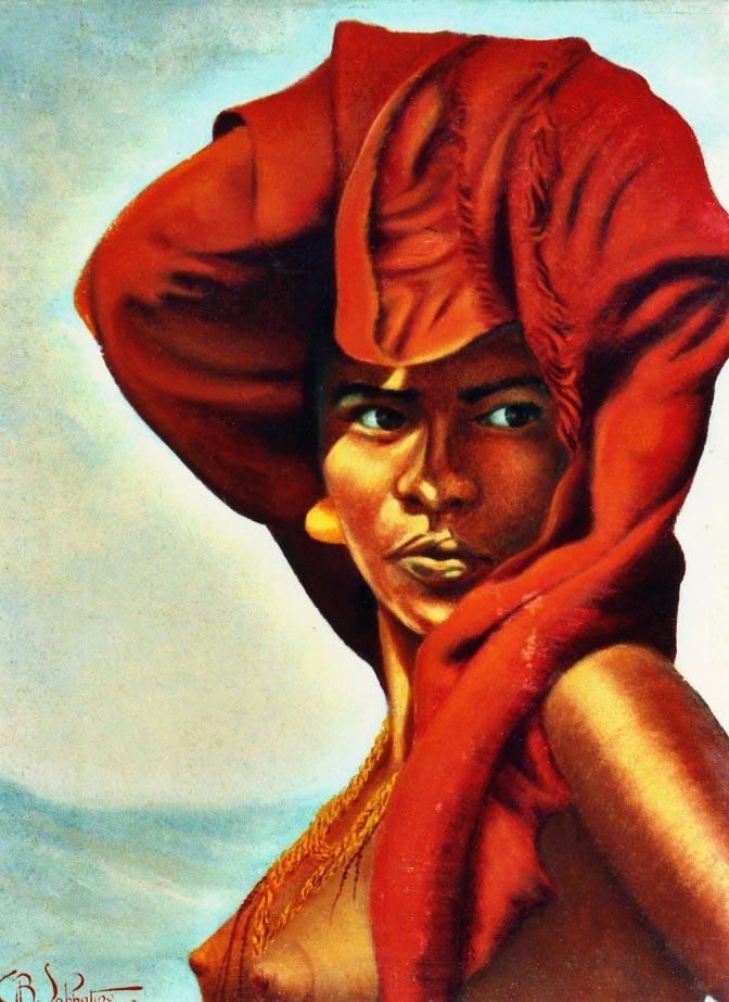 quadro africano ritratto dancala Sabbatino