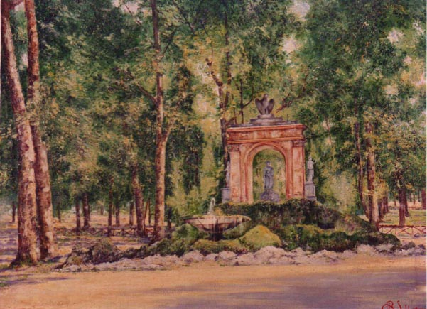 quadro roma fontana di Escuplapio Sabbatino