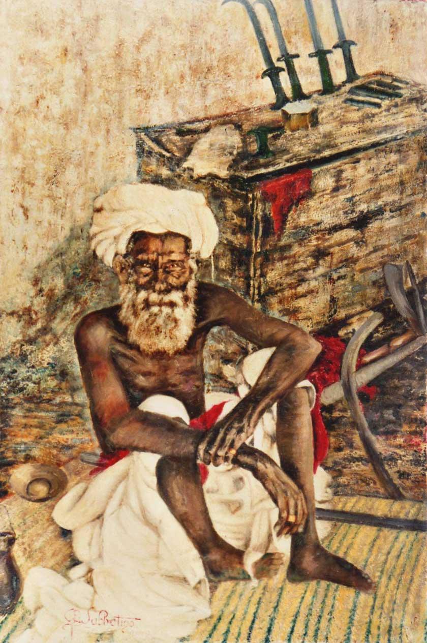quadri africani mercante d'armi keren africa olio su tela Sabbatino