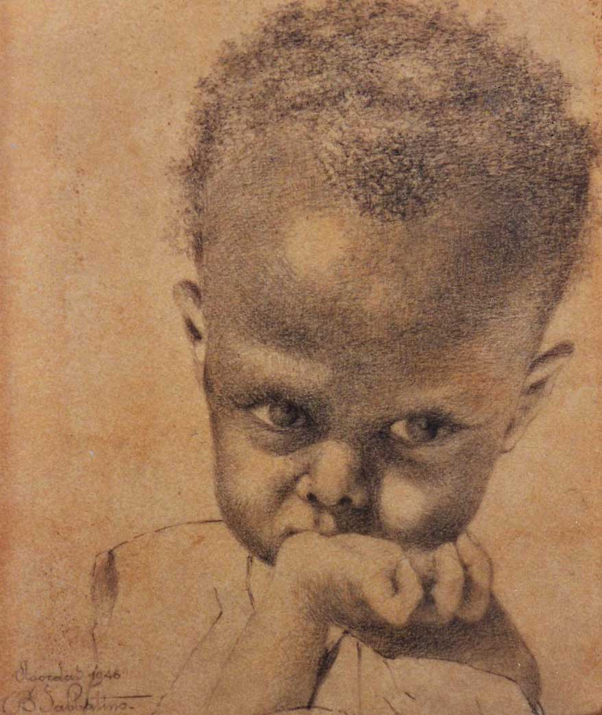 quadri africani bambino Agordat africa ritratti Sabbatino