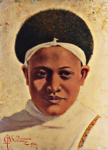quadro africano ritratto karrayyu Sabbatino