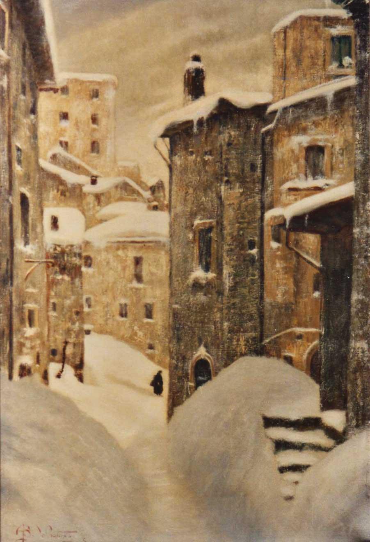 quadro strada neve scanno abruzzo Sabbatino