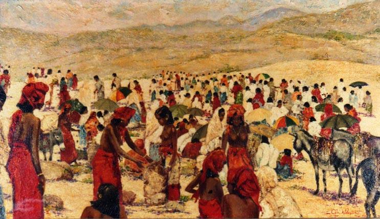 quadro africano mercato bati Sabbatino