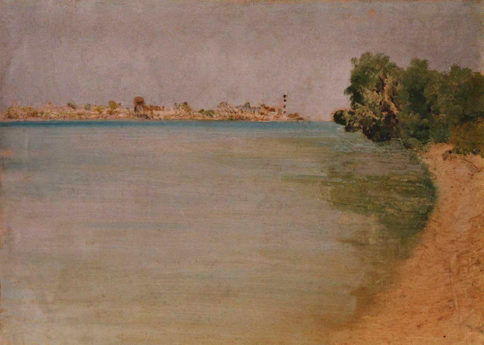 quadro paesaggio spiaggia mare tela Sabbatino