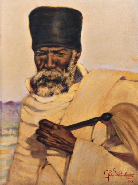 arte africana quadri africani ritratti prete copto sabbatino