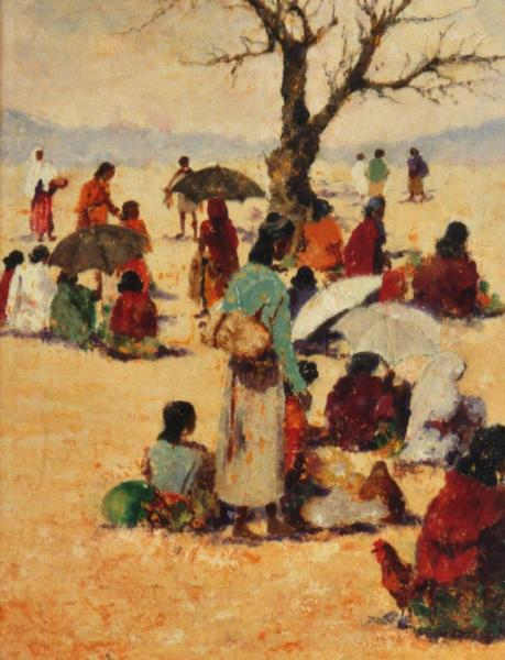arte africana mercato bathie quadri africani paesaggi Sabbatino