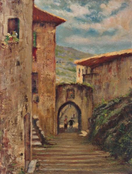 quadri paesaggi abruzzo strada arco Sabbatino