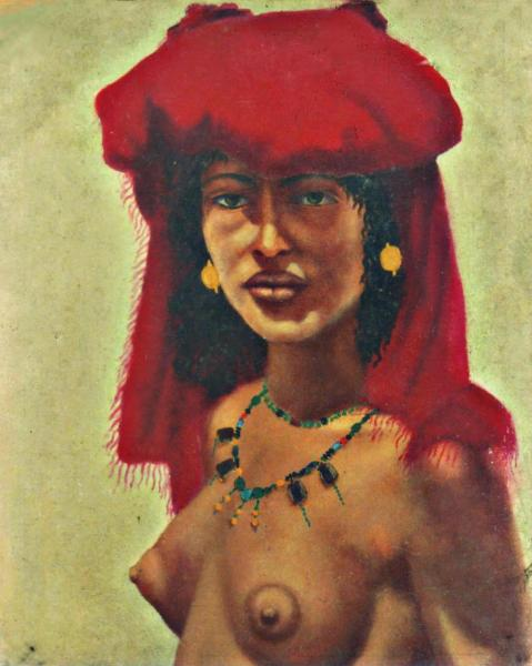 quadri africani ritratto donna dancala faesite Sabbatino