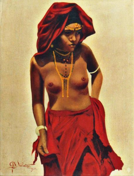 quadri africani ritratto donna dancala Sabbatino