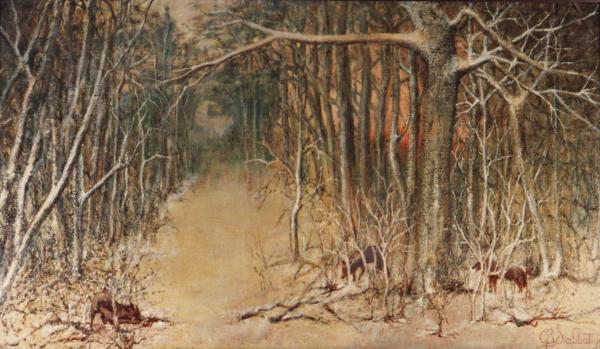 quadri africani foresta paesaggio olio su tela Sabbatino