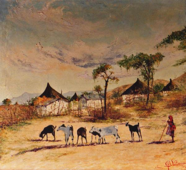quadri africani paesaggi Keren olio su tela  Sabbatino