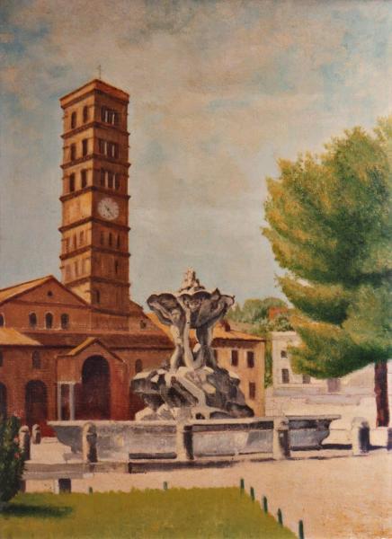 quadri roma piazza bocca verità Sabbatino
