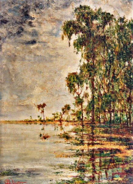 quadri africani eucaliptus paesaggio  olio su tela Sabbatino
