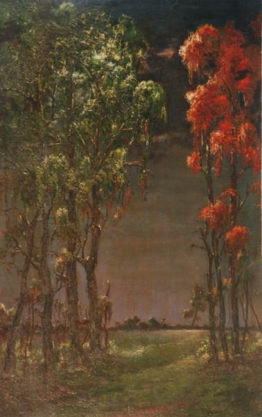 quadri paesaggi olio su faesite foresta sabbatino