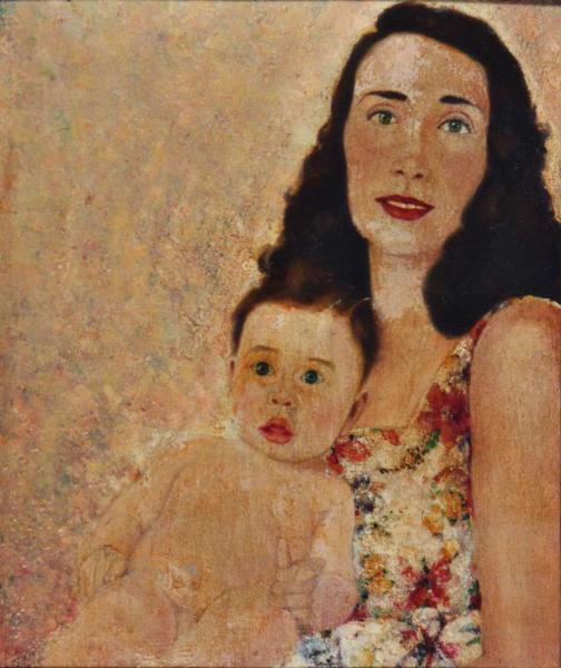 quadro ritratto madre bambino faesite Sabbatino
