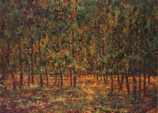 quadro paesaggio foresta olio faesite Sabbatino