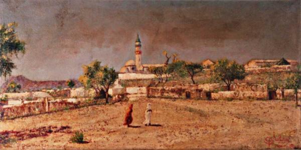 quadri africani villaggio keren africa olio su tela Sabbatino