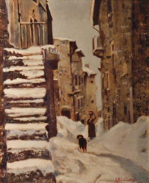 quadro strada scanno neve faesite Sabbatino