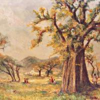 quadri africani paesaggio Keren olio Sabbatino