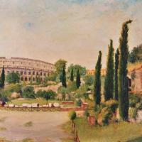 quadri colosseo monumento roma olio Sabbatino