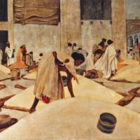 quadri africani mercato di keren africa arte africana olio su tela scene di vita Sabbatino