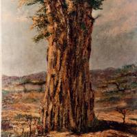 quadro africano baobab olio sabbatino