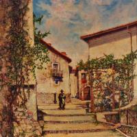 quadro strada paese paesaggio italia Sabbatino