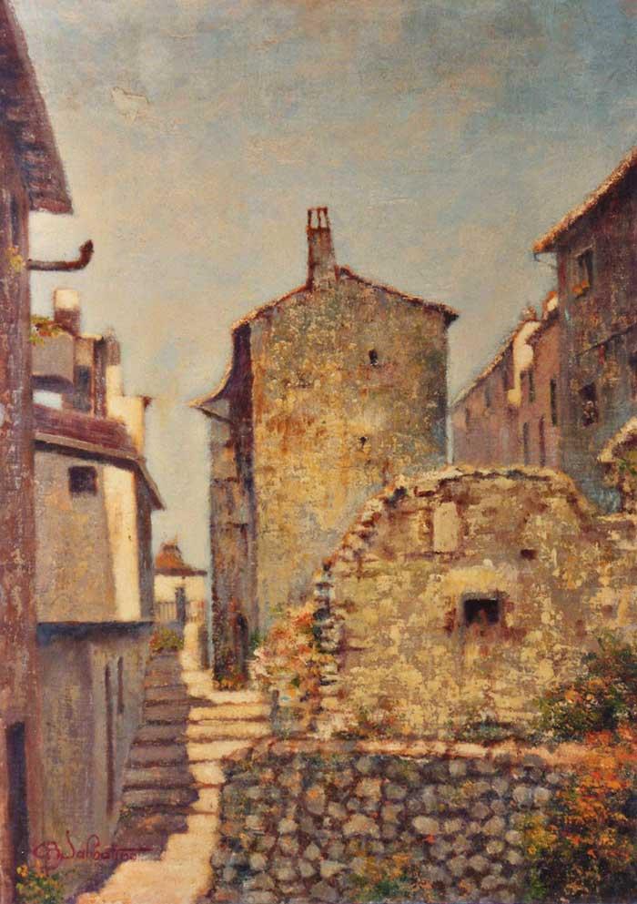 quadro italiano paesaggio tagliacozzo Sabbatino